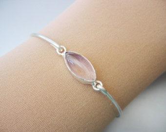 PINK TOPAZ MARQISE bangle bracelet