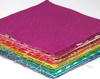 """Color Rush Charm Pack, 122 Different 6"""" Charm Squares, Sew a 60""""x60"""" Quilt Top, Pre-cut Stash Builder, Gift for Sewist"""