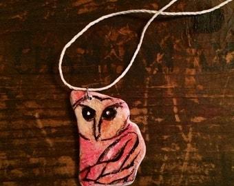Owl Pottery Shard Necklace