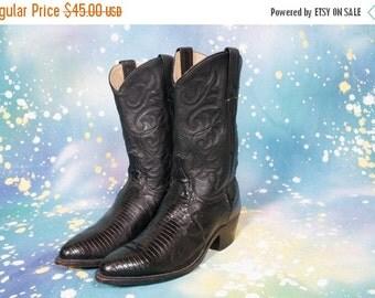 30% OFF DAN POST Lizard Skin Cowboy Boots Women Size 7 M