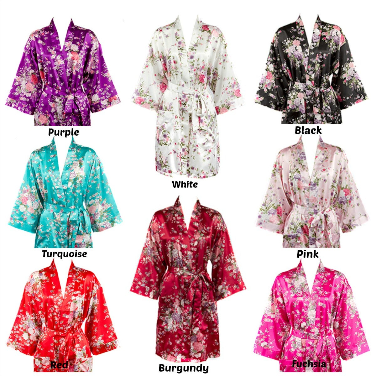 floral silk robes for bridesmaid floral satin bridesmaid