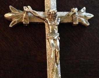Vintage Sterling Jesus Crucifix Pendant