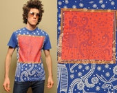 vintage 90 Anrong Bangladesh art shirt Bangladeshi artwork t-shirt antelope deer goddess tee 1990 allover small S 100% cotton