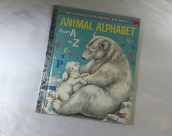 1958 Animal Alphabet from A to Z - Children's Book - Little Golden Book
