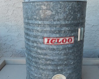 Vintage Galvanized Igloo Water Cooler
