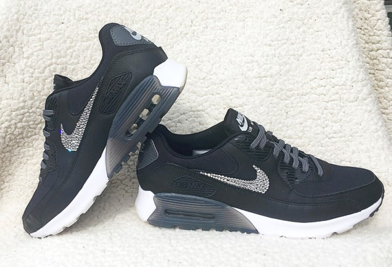 70%OFF Crystal Nike Air Max 90 Ultra Essential Black by SparkleNvie ... 6d847348c1