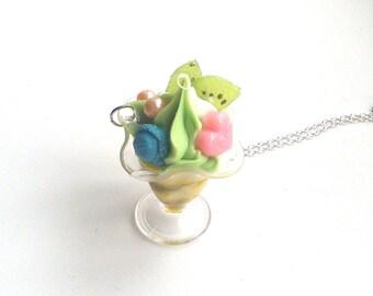 Ice-Cream Sundae Pendant Necklace