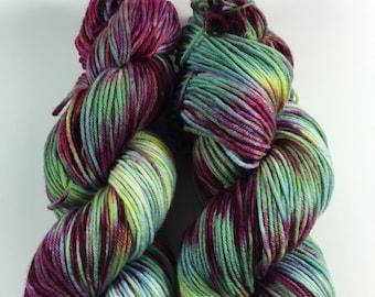 Light Worsted, DK, Superwash Merino, 100 grams, Hand Dyed Yarn, Downtown Jazz, double knitting
