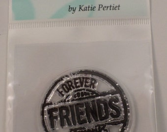 Clear Stamps Friends Forever Cling Rubber Stamp