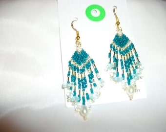 Rock n Pearl Earrings  Ocean