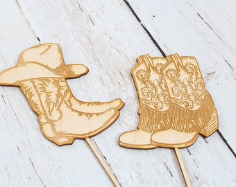 Country Western Wedding Cake Topper Cowboy Boot Cake Topper Rustic Wedding Cake Topper