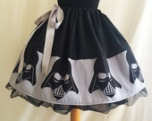 Dark Side Skirts,Costume, Nerd Outfit, Fancy Dress costume, Limited Edition Skirts from ROOBY LANE