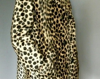 1/2 OFF // Vintage Leopard Print Coat, 1950s Swing Coat, 50s Leopard Pea Coat
