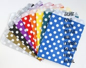 """Treat Bags - 5"""" x 7"""" - Polka Dots (food safe) Silver w/white dots"""