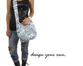 hobo bag. large cross body bag. Design your own purse in chevron , paisley, polka dots, metallic, and more. Mom bag.