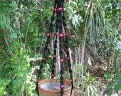 Black 48 Inch Beads Macrame Plant Hanger