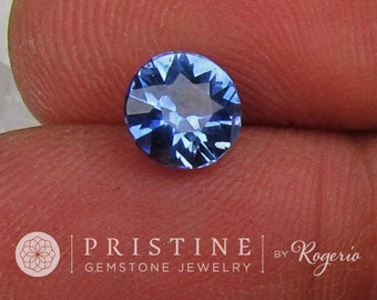 Ceylon Blue Sapphire Round Shape 6.8 mm Round  for Engagement Ring or Fine Jewelry September Birthstone