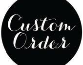 Custom order for Rebecca: Song lyrics with custom art