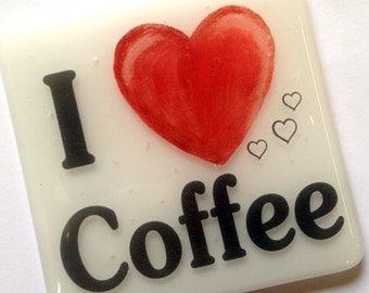 I 'Heart' Coffee Coaster