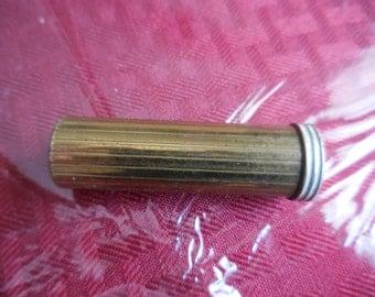 Vintage 1950s to 1960s Gold Tone White Enamel Lipstick Case/Tube Coty New York