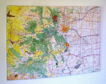 COLORADO State Map Wall Decor | Perfect Gift for Any Occasion | Gallery Wall | Large size