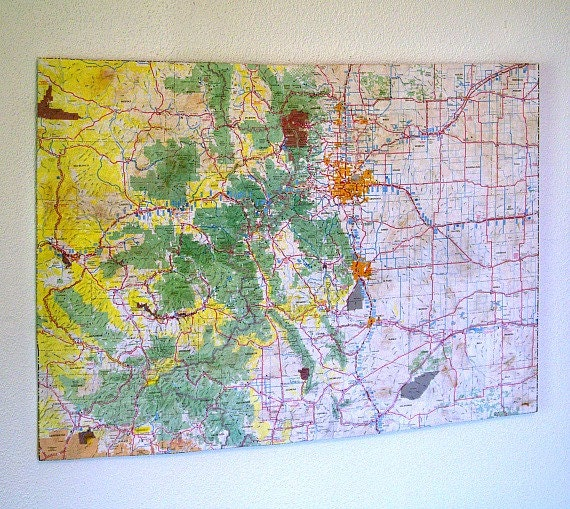 Colorado State Map Wall Decor Perfect Gift For Any Occasion