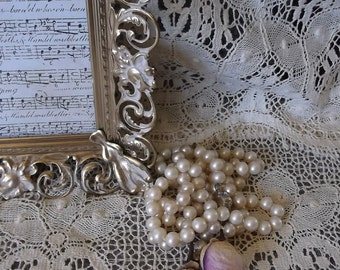 Vintage metal filigree picture frame, French Country, Elegant frame, wedding frame