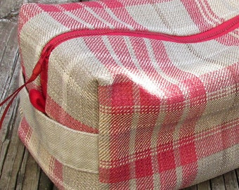 Linen  Organizer / Men's Vintage Look / Shaving Bag / Linen Gift Set/ Travel Bag