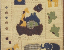 """Bucilla Patchwork Kit 41142 """"Two by Two"""" Easy Applique Project Wall Quilt All Fabric Included Perfect for Childs Room 13 x 16 Wall Quilt"""