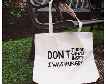 Canvas Tote Bag. Market Bag. Grocery Bag.