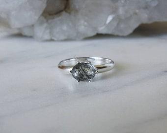 Tourmalinated Quartz Ring