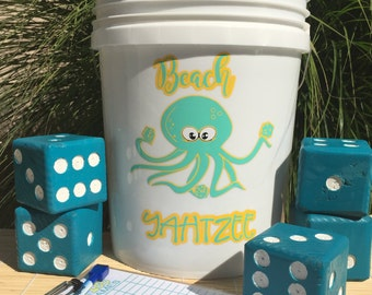 Beach Yatzhee - Yard-Zee - Customized YARD-ZEE games - Outdoor  Lawn Games - Lawn Dice - Yahtzee - Outdoor Recreation