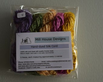 Hand-dyed Silk Cord