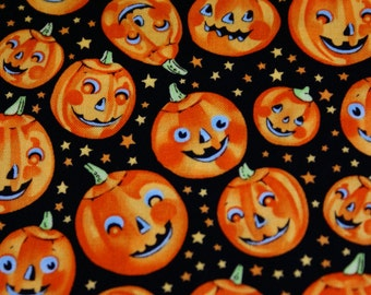 """2 3/4 Yds x 44"""" W Trick or Treat Pumpkins by Alexander Henry Collection"""