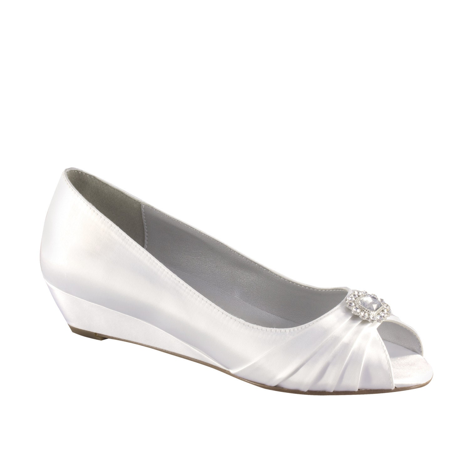 Wedding Shoes Wedge 1 Inch Wedge Heels Size By