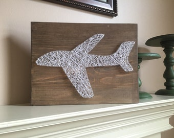 Made to order Airplane string art