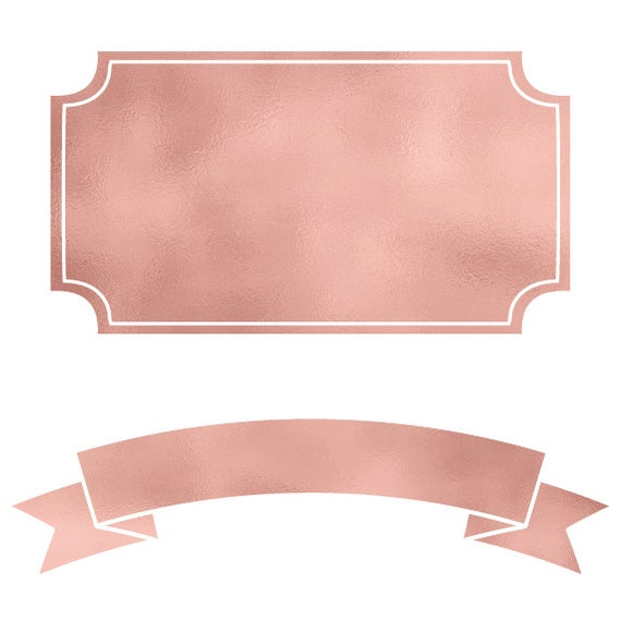 rose gold banners   frames digital labels  png  instant floral border vector png floral border vector vintage