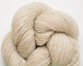 Ecru Recycled Merino Fingering Weight Yarn, Khaki Tan Merino, MER00097