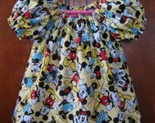 Girls Peasant Top or Dress - Mouse Dress - Best Friend Forever - Size 6M to Size 14 - Made to Order