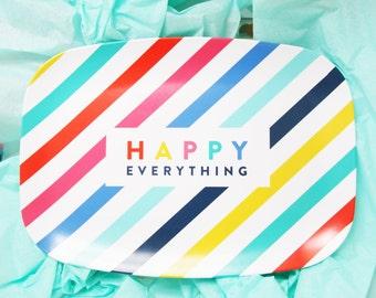 Personalized Melamine Platter, happy everything, pencil shavings studio, birthday gift, teacher gift, hostess gift, christmas gift