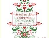 Scandinavian Christmas Tree SVG File, Scandinavian, Swedish Folk Art, Christmas Tree, Christmas Glass Block, SVG cut file