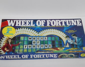 Game0183 Wheel of Fortune 1986 Vintage Game