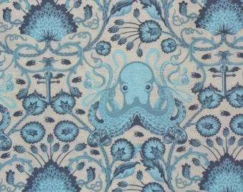 Tula Pink Fabric,  Salt Water, Octo Garden, Octopus Fabric, Free Spirit, By the Yard