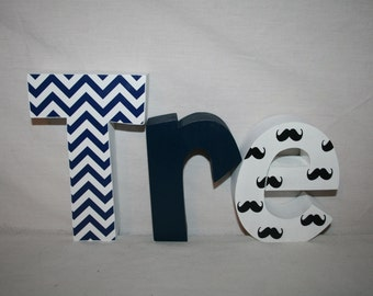 custom wood letters little man 3 letter set wooden letters for nursery mustache baby shower mustache decor wooden letters baby name