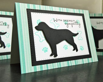 Dog Sympathy Card, Pet Sympathy Card