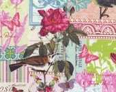Michael Miller Fabric - Belle Rose in Pink - French Journal Collection - London Portfolio - High Density Cotton - By The Yard (LOW STOCK)