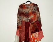 Sale Funky Tattered  Dress - upcycled clothing- KheGreen Ethical Fashion