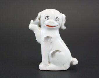 Vintage Occupied Japan Smiling Happy Dog Figurine (E4609)