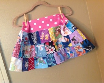 Everything Disney 5t, 6,6x, 7  skirt  -ready to ship - Tinkerbell, Princess, Minnie -