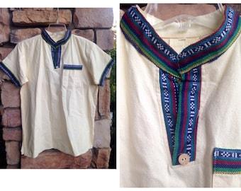 70s Boho Ethnic Embroidered Tunic